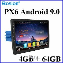 1 Din Autoradio Android 9.0 Car GPS Stereo Audio 10inch 4G+64G HDMI AUX Wifi OBD