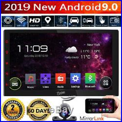 10.1 2 DIN Autoradio GPS Bluetooth Navi Car Stereo Player Android 9.0 Voiture