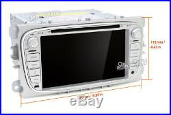 2din android 9.0 car dvd stereo Autoradio pour FORD/Focus/S-MAX/Mondeo volant