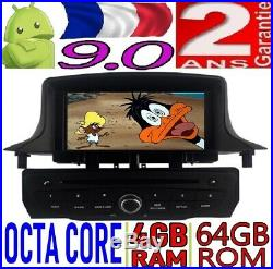 4gb Ram Android 9.0 Renault Megane III 2009-2014 Voiture 4g Auto Radio DVD Gps
