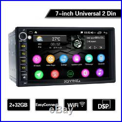 7'' 2 Din Universal Autoradio Android 8.1 GPS Bluetooth DSP écran tactile WiFi