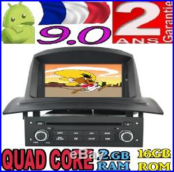 Android 9.0 Renault Megane 2 II (2002-2008) Voiture Radio 7 Gps Car Sd Wifi 3g