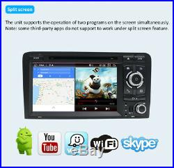 Autoradio Android 9.0 Head Unit Pour Audi A3 S3 RS3 2003-2011 Radio Stereo GPS