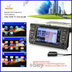 Autoradio CD USB Navi Bluetooth DVR CAM-IN BMW 3er E46 318 320 M3 Rover 75 MG ZT