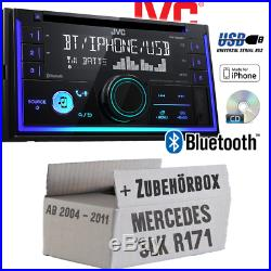 JVC Autoradio pour Mercedes SLK R171 CD Bluetooth Android Apple USB Auto Montage