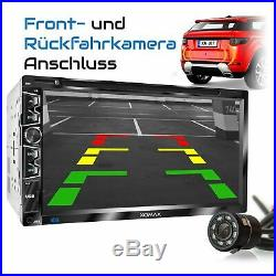 VOITURE RADIO AVEC CD DVD USB MicroSD BLUETOOTH 6.9CAPACITIVE TOUCH SCREEN 2DIN